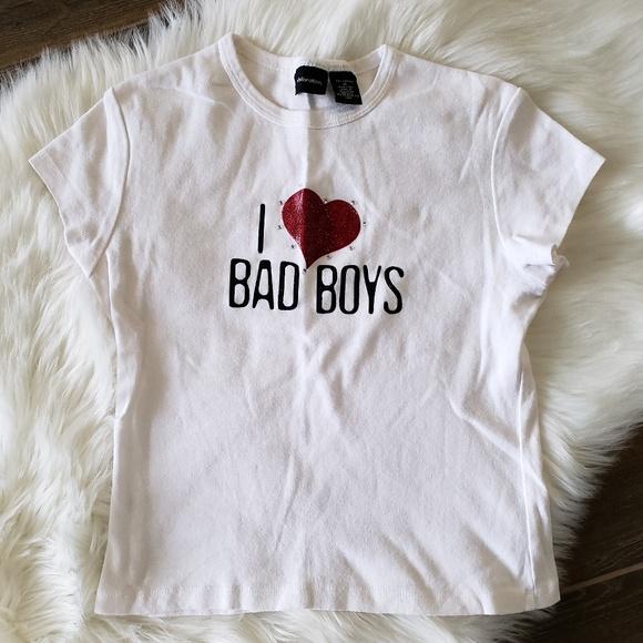 d69a804f Xhilaration Tops | B2g1 Vintage I Love Bad Boys Tee | Poshmark